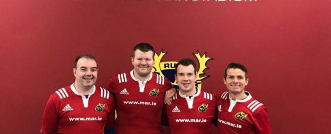L-R: Munster Referees Tom Moylan, Eoghan Cross, Rob O'Sullivan and Chris Harrington.